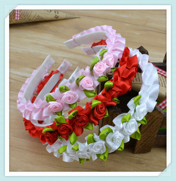 New (mix order) Fashion jewelry Cute princess Headwear Headbands girl Hair accessories love design Mix color H20(China (Mainland))