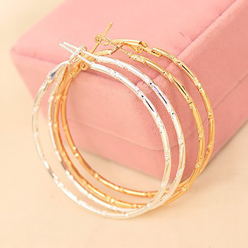 Big Circle Gold Silver Hoop Earrings Women Large Round Loop Earring Fashion Jewelry Accessories Basketball Wives Pendientes(China (Mainland))