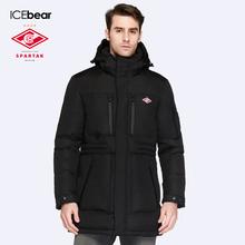 SPARTAK-ICEbear Совместное Производство 2016 Новая Зимняя Коллекция Био Вниз Пальто Средней Длины мужская С Капюшоном Теплая Куртка 16M908D(China (Mainland))