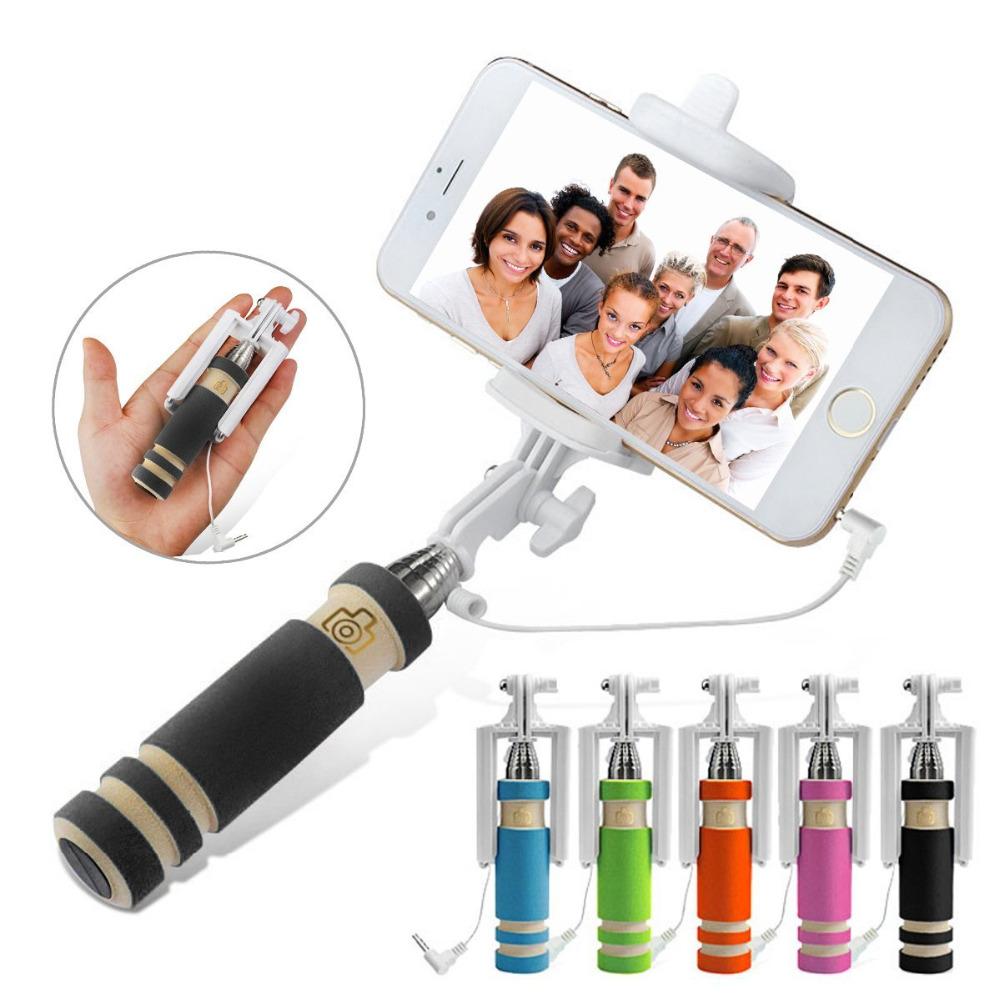 Handheld Extendable selfie stick for iPhone 6 6s Plus 5 5s For Samsung Galaxy S4 S5 monopod Mini Self-Pole Tripod Monopod self(China (Mainland))