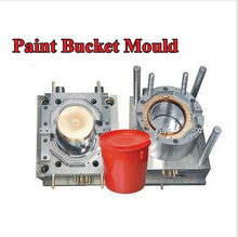 Free shipping plastic paint bucket mould plastic injection bucket moulds(China (Mainland))