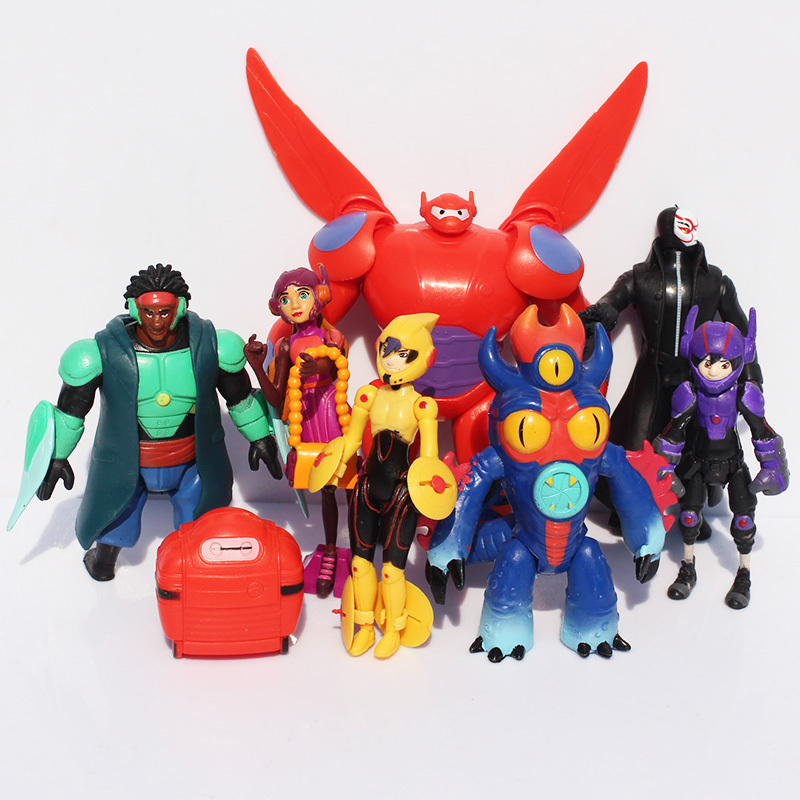 Гаджет  Big Hero 6 figures Baymax 8pcs/lot  Silicone Keychains Pendants 8-11cm Free shipping None Игрушки и Хобби