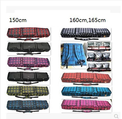 160cm 165cm outdoor Skis Bag Mono-board double-board Skiing Board Bag Snowboard Bag Skiing Products skiing shoes fitted device(China (Mainland))