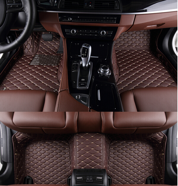whole surrounded special car floor mats for X5 5seats F15 2015 waterproof durable carpets for F15 2014 wear resisting green rugs(China (Mainland))