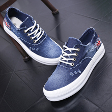 New Arrival 2016 The comfort Platforms Women Summer Casual Shoes Denim Canvas Shoes Woman Lace-up Spring Summer Shoes Womens