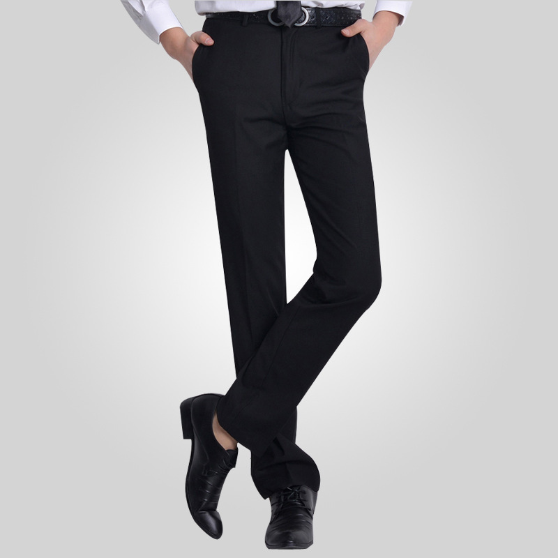 Plus Size29 40 Wrinkle Free Wedding Black Mens Formal Pants Office Workwear Casual Men Suit ...