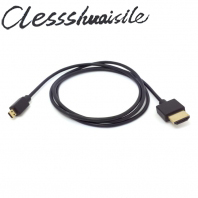 OD 3mm Soft Thin Micro HDMI Male to HDMI Male HDTV Cable for Cell phone & Tablet 1m(China (Mainland))