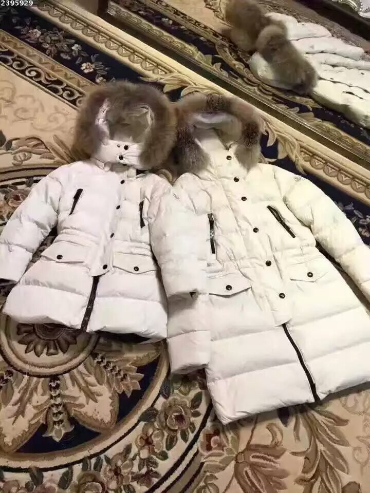 Family sets 2016 winter Jacket Women down jackets Family set Mother & child fur hooded Women's down cost Outerwear children