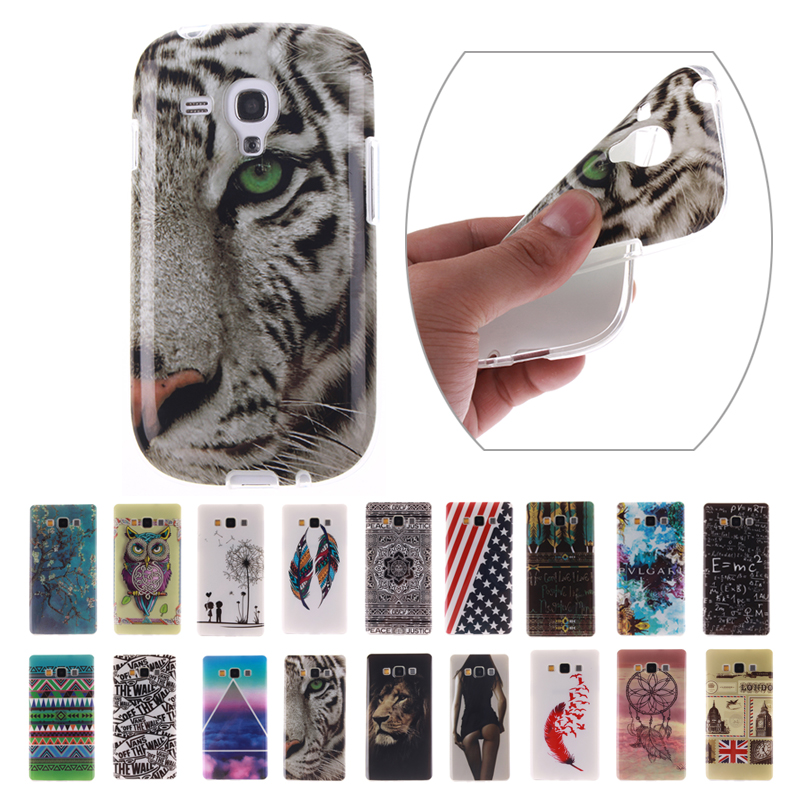 Soft Gel TPU Cartoon Case for Samsung Galaxy S3 mini Painting Cute Luxury Silicone Protective Back Cover for SIII mini I8190(China (Mainland))