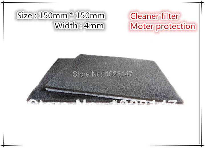 2 pieces/lot Vacuum Cleaner Motor Protection Hepa Filter 150mm*150mm*4mm For FC8220 FC8222 FC8224(China (Mainland))