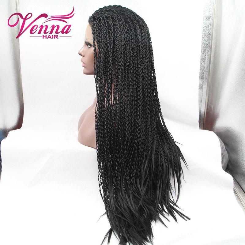 Здесь можно купить  Fashion Lace Front Box Braid Wigs Synthetic Braiding Hair Heat Resistant Micro Braided Wigs For Black Women Fashion Lace Front Box Braid Wigs Synthetic Braiding Hair Heat Resistant Micro Braided Wigs For Black Women Волосы и аксессуары