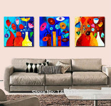 Buy Framed abstract painting & calligraphy modern living room decoration pictures print canvas 3 panel canvas wall art T/598 for $7.74 in AliExpress store