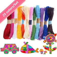 Paper String Drawing Toy For Children Handmade DIY Accessories Learning&Educational Toys(China (Mainland))