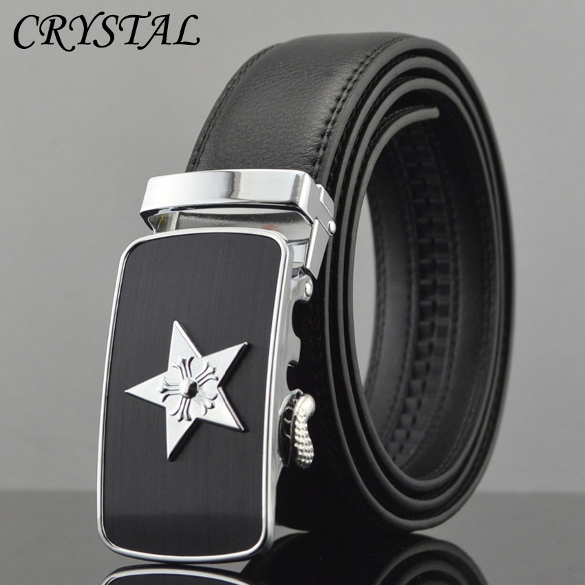 Belt Designer Belts Mens Cinto Masculino Luxo Cinturon Riem Leather Men Geometric Fashion Cowskin Metal Automatic Buckle - Crystal Top store