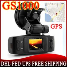50pcs Car DVR GS1000 with GPS logger G-Sensor camera recorder Full HD 1080P 30fps Ambarella CPU H.264 IR Night Vision(China (Mainland))