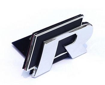 Front Car door 3D Badge Emblem Decal Sticker logo styling For R Line Rline VW Golf 6 7 GTI Jetta Passat Tiguan free shipping