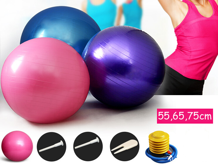 pvc 65cm yoga Pilates ball gym exercise practice training balls indoor therapy massage Fitness lose weight(China (Mainland))
