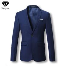 Men Blazer 2016 New Suit Men 5 Colors Casual Jacket Terno Masculino Latest Coat Designs Blazers Men Clothing Plus Size M-6XL(China (Mainland))