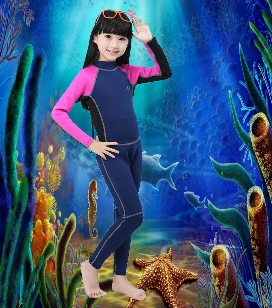 Wetsuits Youth Premium Neoprene 2mm Youth's Full Body Long Sleeve(China (Mainland))