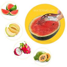 Mini Stainless Steel Watermelon Cutter Melon Slicer Corer Server Splitter Fruit Knife Kitchen Tool(China (Mainland))