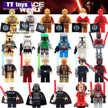 Single Sale Star Wars Mini Dolls Darth Vader PG633 Darth Maul Lightsaber Yoda Sith with Weapon Building Block Gift Toys(China (Mainland))