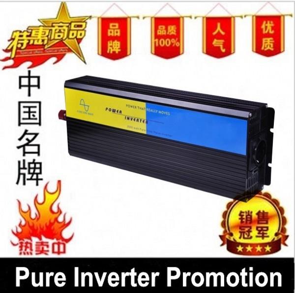 DHL Or Fedex 5000W Pure Sine Wave Inverter 10000w peak(DC12v,24v to AC110v,220) For Wind and solar energy High Qualit(China (Mainland))