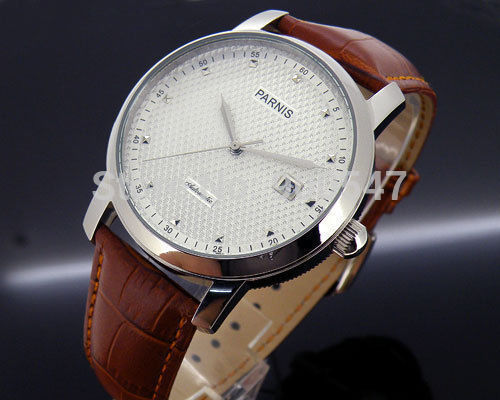 Details about 43mm Parnis textured white dial Independent seconds auto mens ST2551 Watch PN287(China (Mainland))