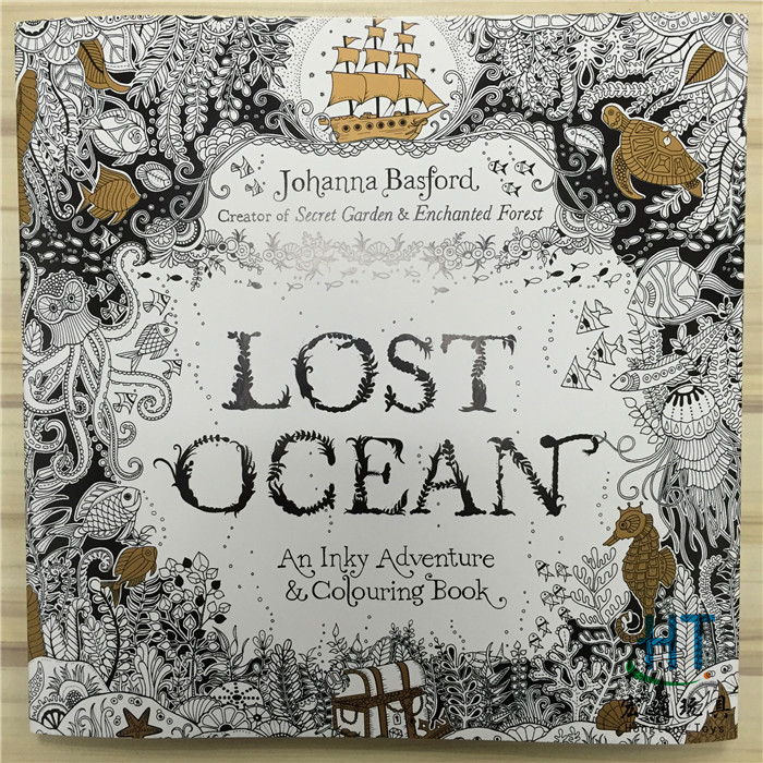 88 Pages Lost Ocean Coloring Books For Adults Childs Graffiti Painting Secret Garden Style Drawing Book Free Shipping 1110<br><br>Aliexpress