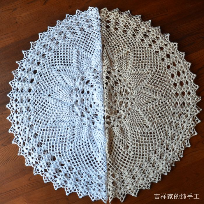 2014 new zakka fashion design cotton made lace table cloth table runner for home decor cutout towel knitted vintage pineapple(China (Mainland))