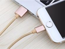 Новый 1.5 М Металл Плетеный Мобильный Телефон Кабели Зарядный Кабель USB Зарядное Устройство данных Для iPhone 5 5S 6 S 6 6 плюс IOS Данные аксессуары