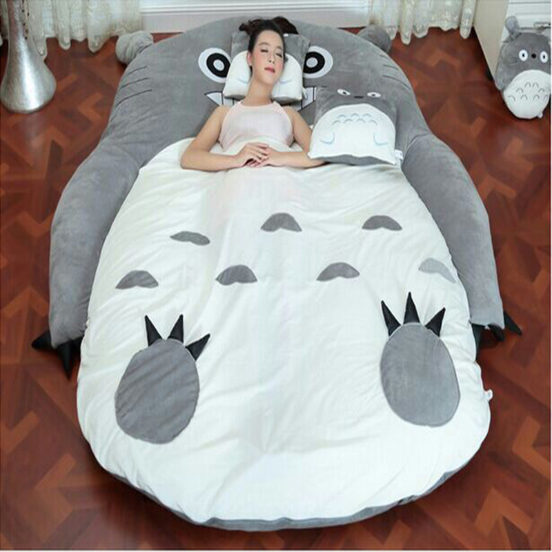 (1.7*2 m) Totoro Plush Double Beds Kawaii Giant Stuffed