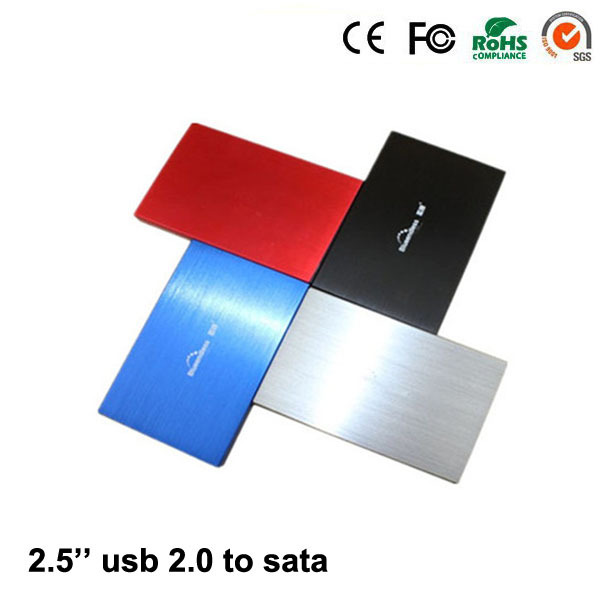 """2015 Aluminum hdd box USB 2.0 to SATA 2.5"""" up to 1TB hdd 2.5 enclosure caddy High quality for sale(China (Mainland))"""