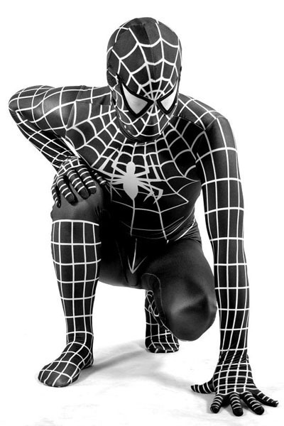 photo déguisement spiderman adulte noir