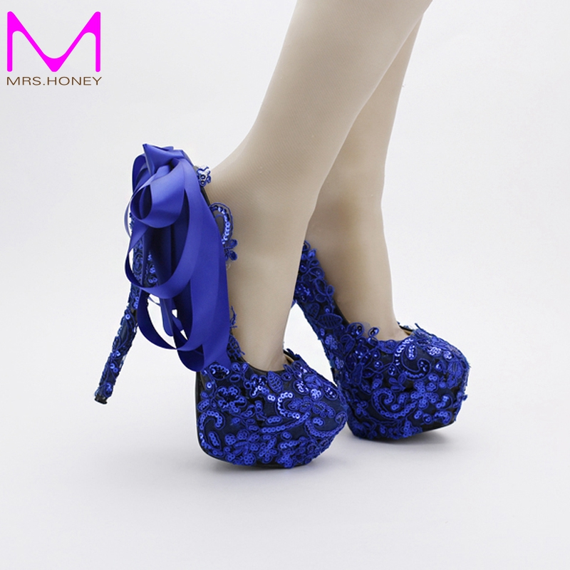 Popular blue prom shoes buy cheap blue prom shoes lots for Blue shoes for wedding dress