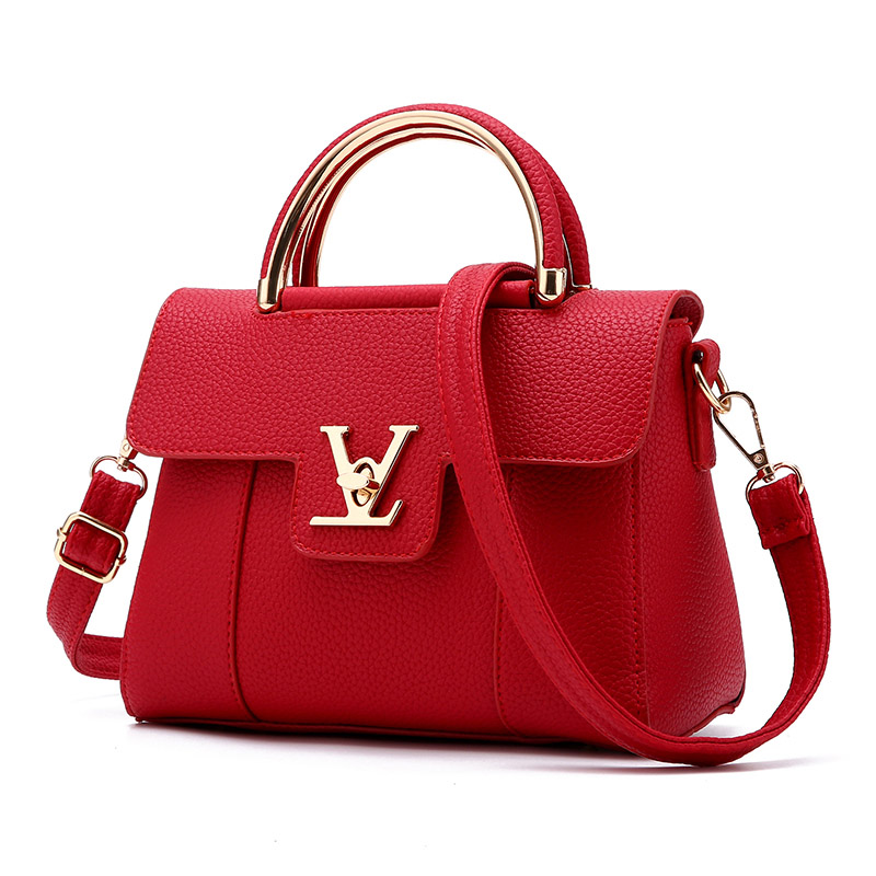 2016 Brand Women Real Leather Female Embossed Tote Handbag Bag Bags Handbags Women Famous Brands Luxury Designer Business(China (Mainland))