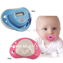 Free shipping Infant Baby Digital Dummy Pacifier Thermometer Soother Trendy Safe IA646