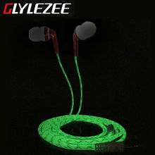 L-BOXYUE Luminous In-Ear Stereo MP3 Music Headset Earphone with Microphone Calling Cellphone Headphone