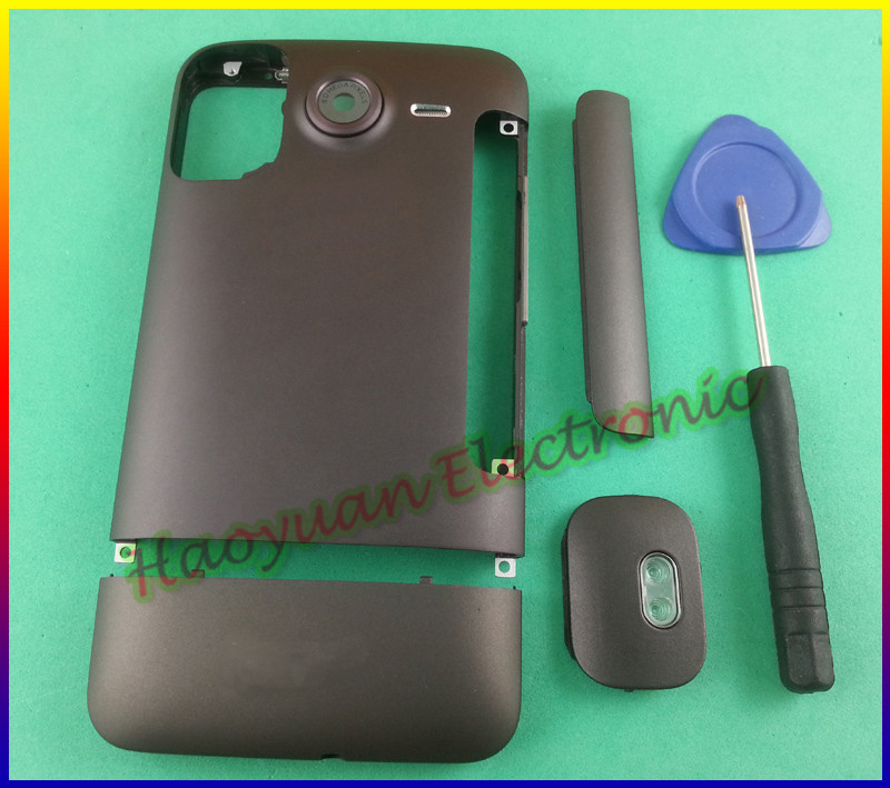Coffee New 100% Original Full Housing Battery Back Cover Case+Buttons For HTC Desire HD Inspire 4G G10 A9191+Open Tool(China (Mainland))