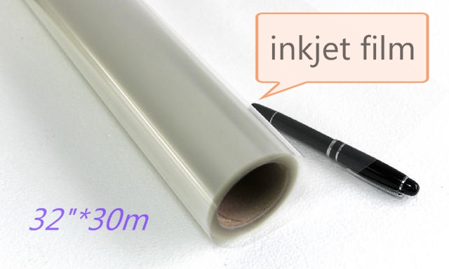 32in*30m Transparent PET plate making inkjet printable film inkjet clear film for inkjet printers 81cm wide roll(China (Mainland))