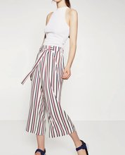 Buy ZA Summer Autumn Brand New Ref 7901/252 Ladies Striped Wide leg slacks Cropped Trousers Pants Tie Bow Belt for $25.00 in AliExpress store