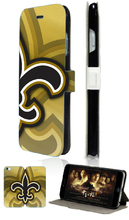 New Orleans Saints NFL hybrid retail 5designs Hot sell luxury mobile phone bagcard wallet leather cases for IPHONE4 4S free ship