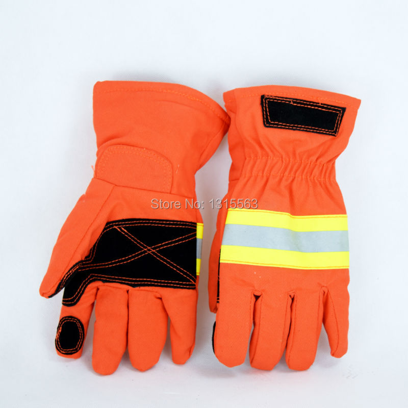 2015 new product Free Shipping Fire retardant waterproof fire protection gloves for Firefighting gloves with protective leather(China (Mainland))