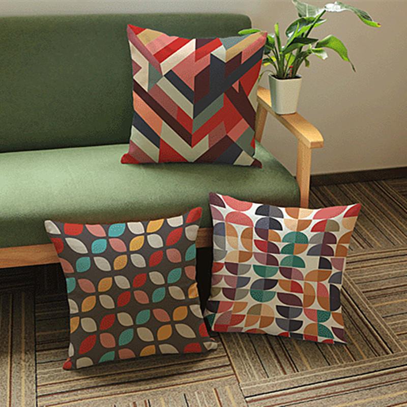 Painting Scandinavian Minimalist Creative Geometry Cotton Seat Cushion Office Sofa Cushion Home Decoration(China (Mainland))