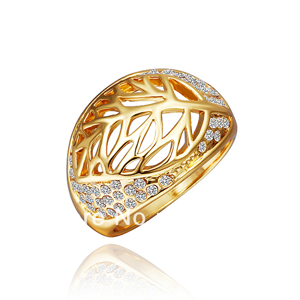 LR353 New 2013 18K Yellow Gold Plated Items Rhinestone Pave Retro Vintage Tree of Life Finger Rings Women Elegent Jewelry(China (Mainland))