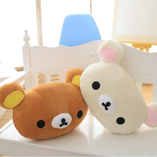 1pc 50*30cm Cartoon Rilakkuma Bear Plush Pillow Large Stuffed Sofa Cushion Easy Bear Relax Bear Pillow Children Gift(China (Mainland))