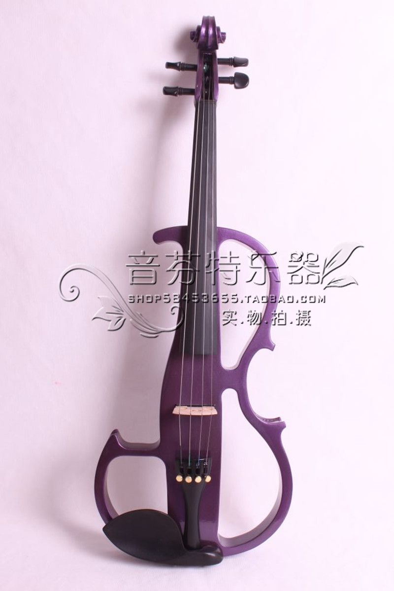 Quality electro-acoustic violin electronic violin purple wood ebons 8<br><br>Aliexpress