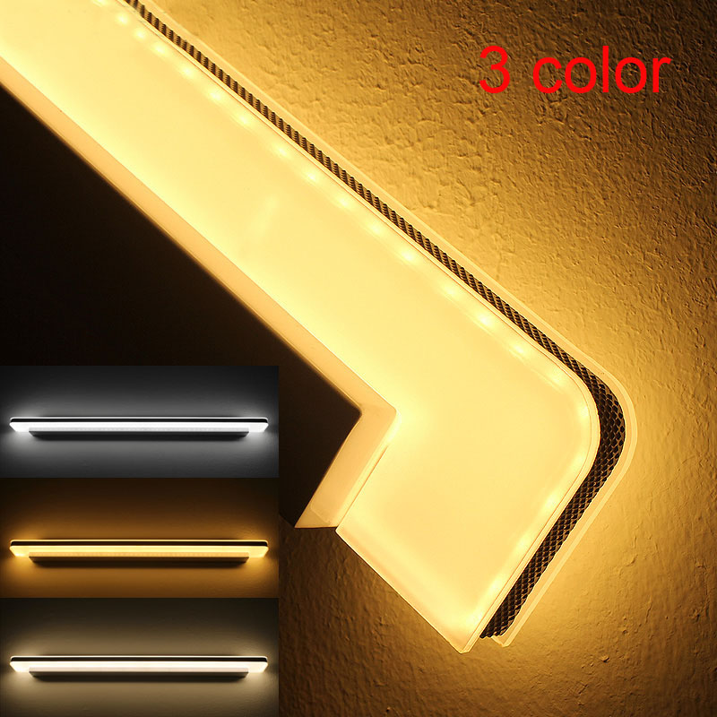 50cm Waterproof Acrylic Mirror LED wall lamp Color changing warm natural cold white for bathroom washroom Cabinet dressing(China (Mainland))