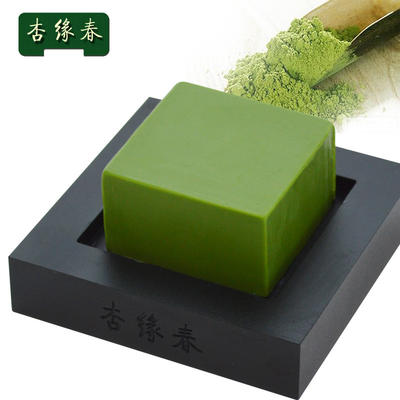 Deep clean green tea whitening and moisturizing soaps sent 100 g free shipping costs(China (Mainland))