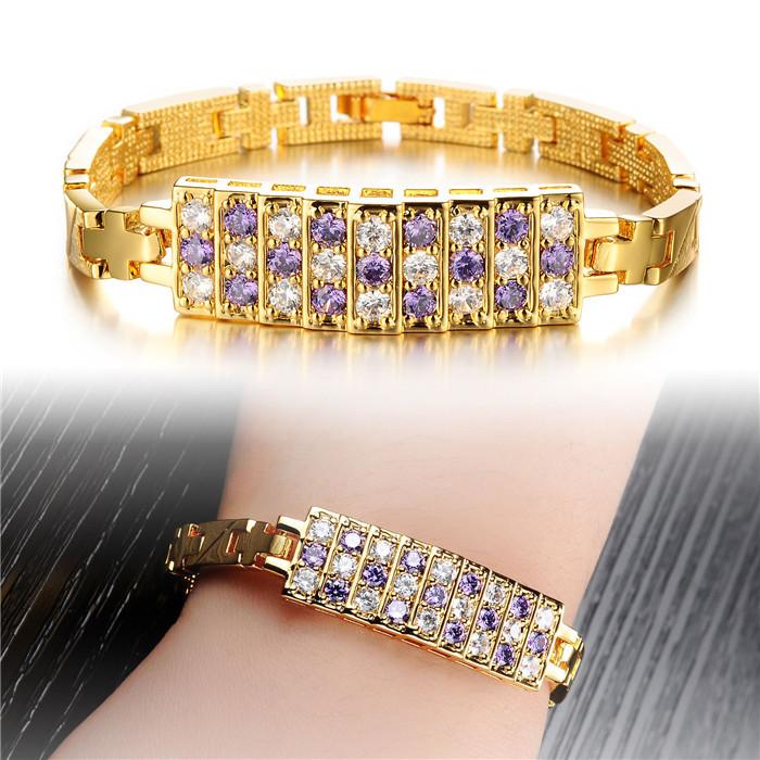 pulsera cuero mujer pulseira ouro women braclet gold cristal bracelets LB165(China (Mainland))