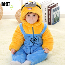 Small Baby Dresses 1-3 Years Old Thermal Thickening Wadded Jacket Cotton-Padded Jacket Child One Piece 9 Baby Boy Winter 992080